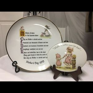 Vintage Holly Hobby Porcelain Mother's Plates